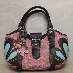 Isabella Fiore Leather Accent Handbag